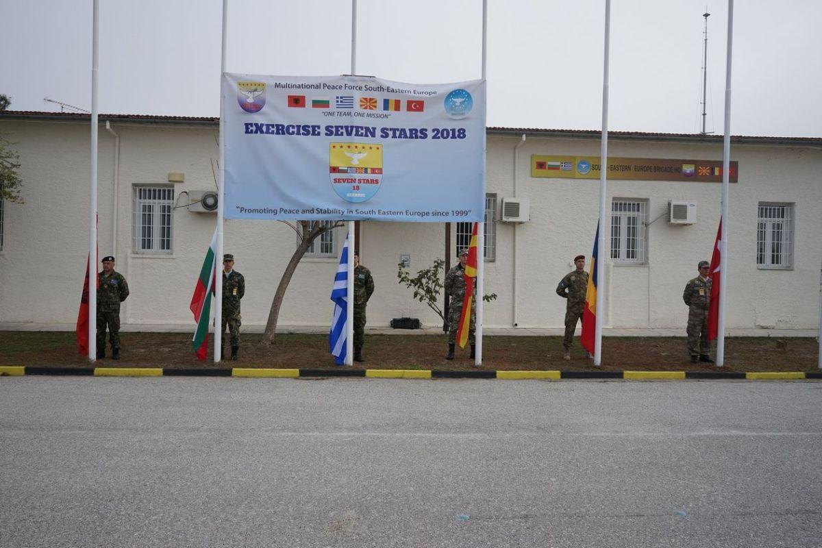 Σε πρώτο πλάνο η σημαία των Σκοπιανών (και σύντομα βόρειο-Μακεδόνων) στην άσκηση SEVEN STARS στην Ελλάδα...